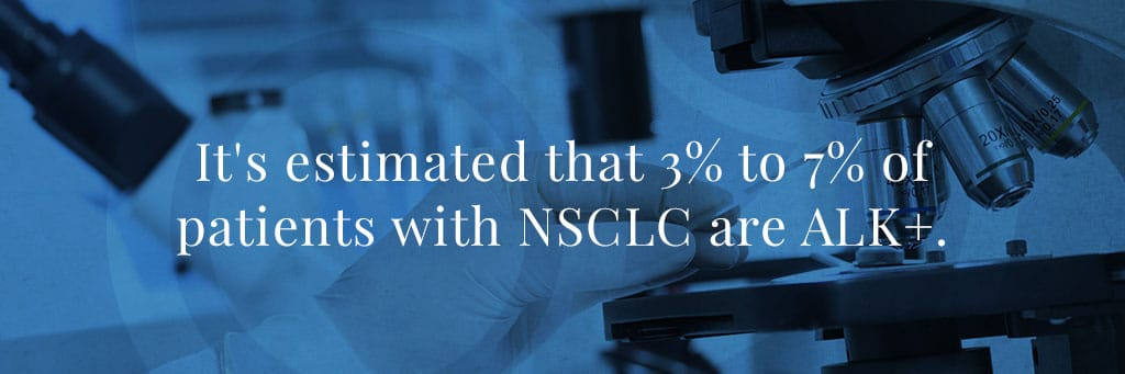 It's estimated that 3% to 7% of patients with NSCLC are ALK+